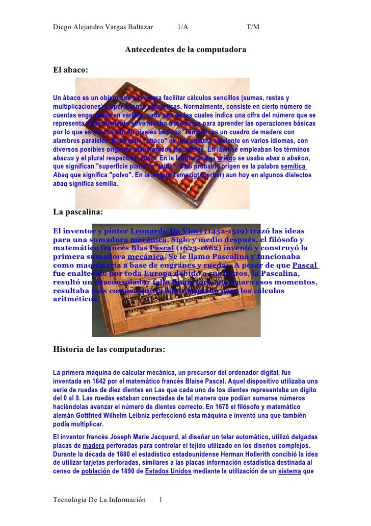Diego Alejandro Vargas Baltazar            1/A                     T/M                           Antecedentes de la comput...