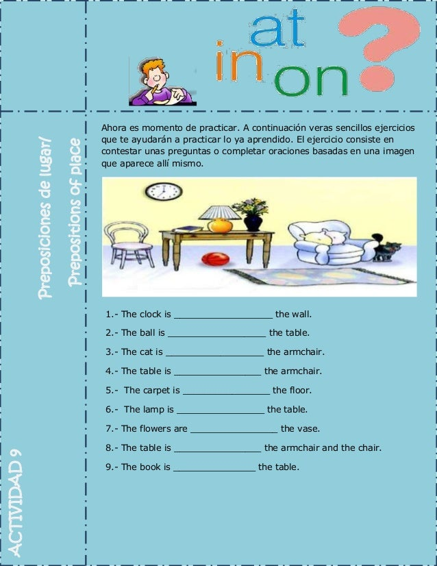 Actividad 9 Preposiciones De Lugar Vdga
