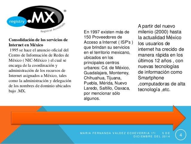 Consolidación de los servicios de  Internet en México  1995 se hace el anuncio oficial del  Centro de Información de Redes...