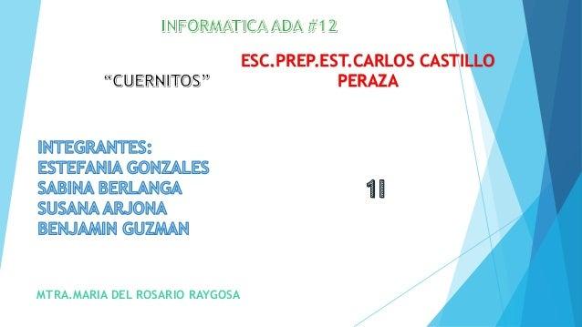 MTRA.MARIA DEL ROSARIO RAYGOSA  ESC.PREP.EST.CARLOS CASTILLO  PERAZA