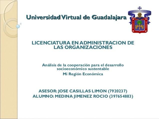 UniversidadVirtual de GuadalajaraUniversidadVirtual de Guadalajara LICENCIATURA EN ADMINISTRACION DE LAS ORGANIZACIONES An...