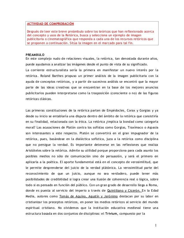 ACTIVIDAD DE COMPROBACIÓN Después de leer este breve preámbulo sobre los teóricos que han reflexionado acerca del concepto...