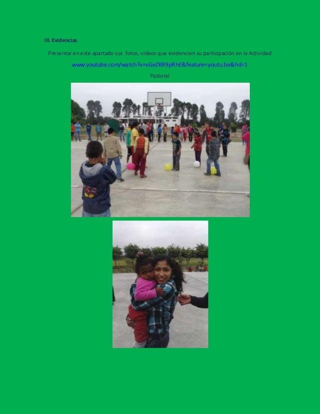 Actividad de responsabilidad social o pastoral universitaria  grupo nuestros pequeños hermanos Slide 3