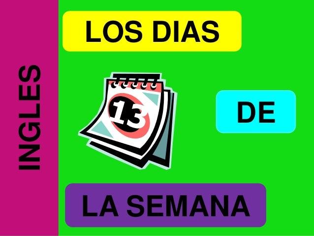 INGLES   LOS DIAS                    DE         LA SEMANA