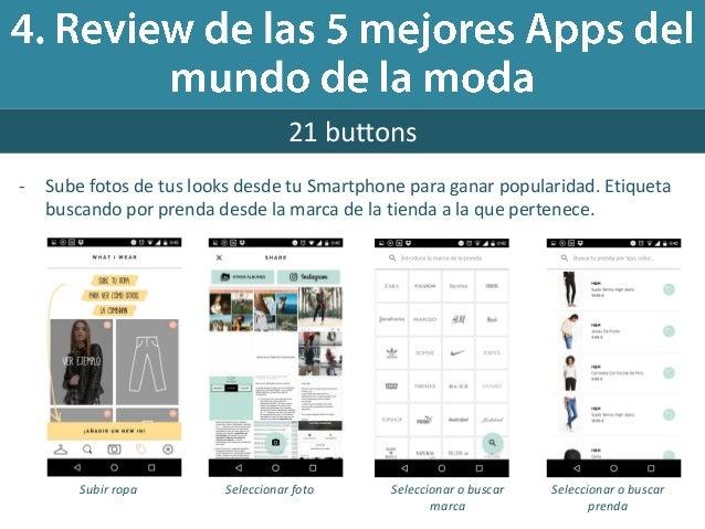 benchmarking de apps del mundo de la moda