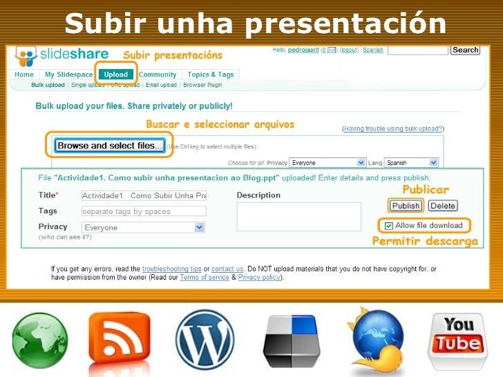 Subir unha presentación