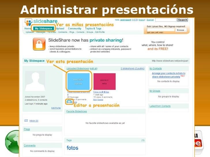 Administrar presentacións