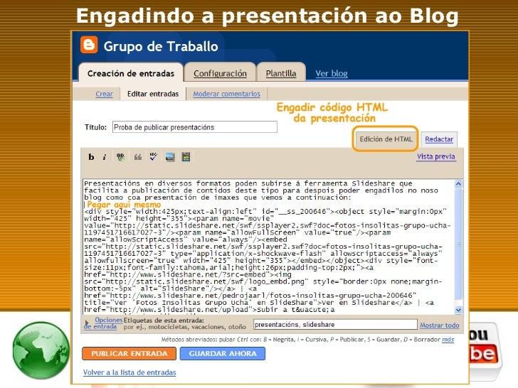Engadindo a presentación ao Blog