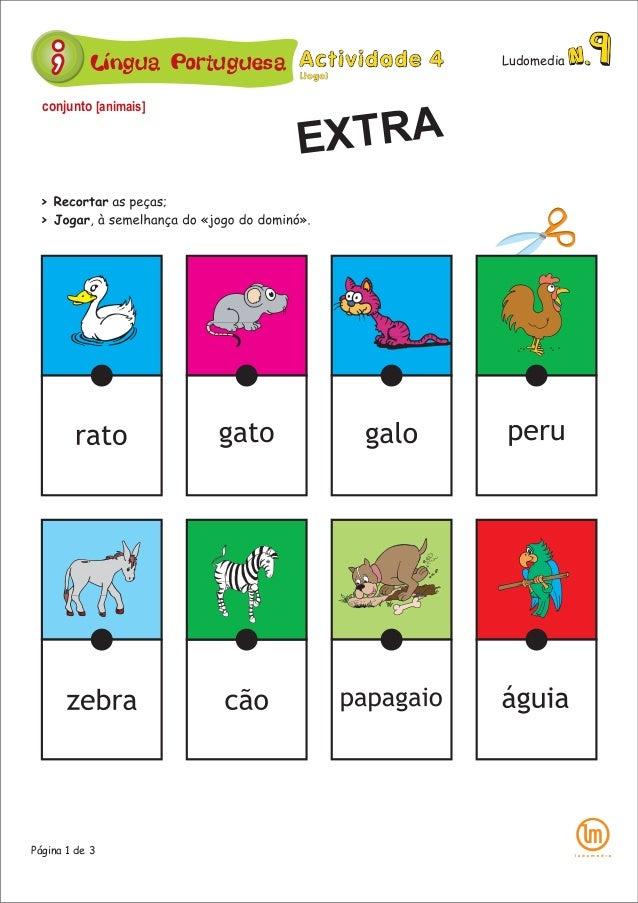 Língua Portuguesa Ludomedia Página 1 de 3 conjunto [animais] EXTRA