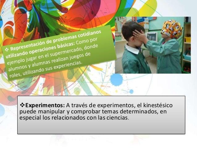 Deportes: Involucrar a las personas kinestésicas en deportes les permite desarrollarse de manera integral, ya que desarro...