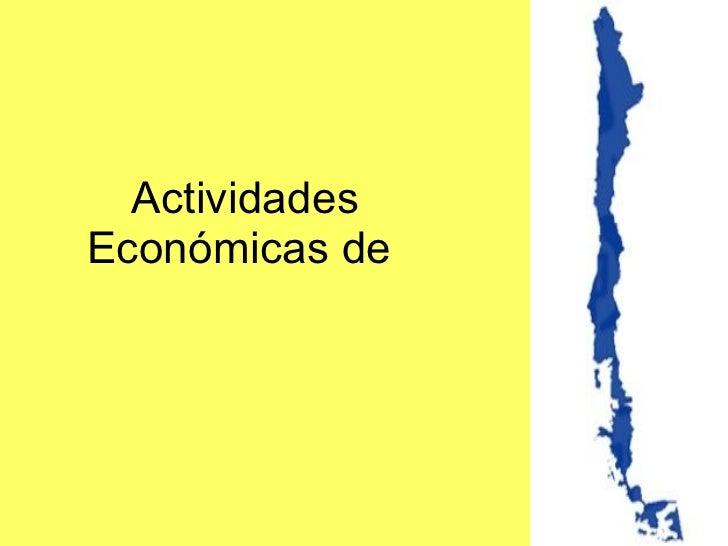 Actividades Económicas de