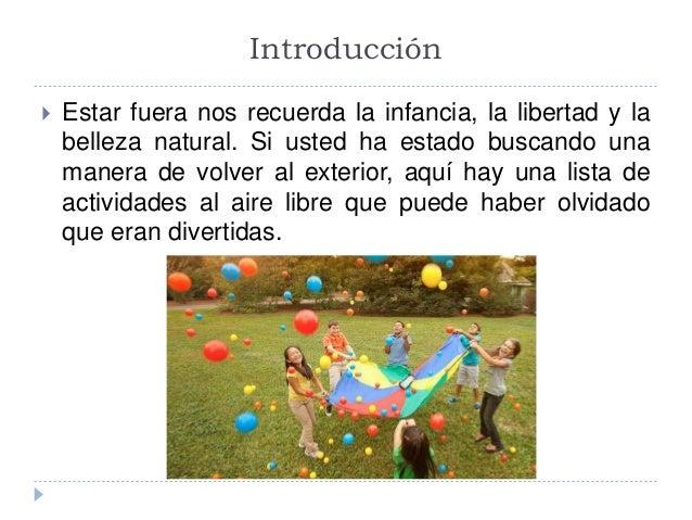 Actividades al aire libre de roberto hosoya - Actividades para ninos al aire libre ...