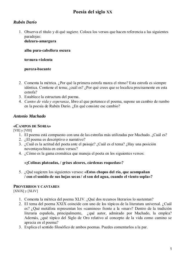 Actividades Antologia Poetica S Xx