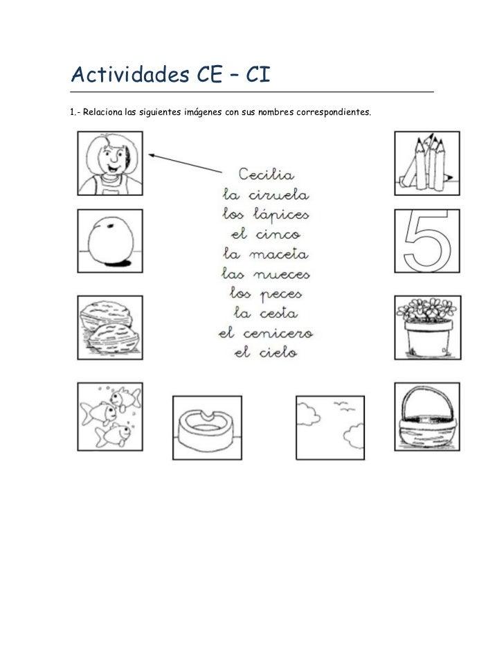 Actividades CE – CI1.- Relaciona las siguientes imágenes con sus nombres correspondientes.