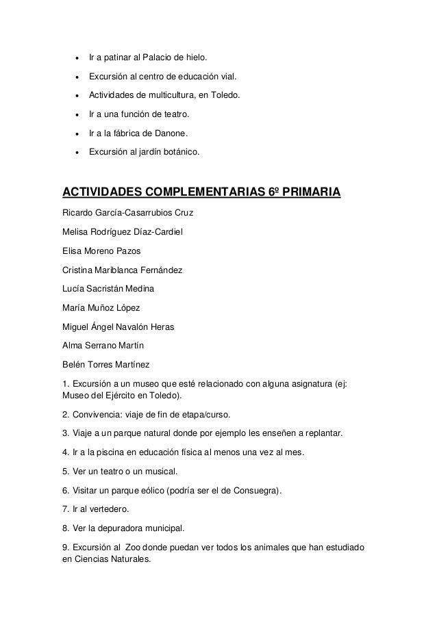 Actividades complementarias primaria for Actividades jardin botanico
