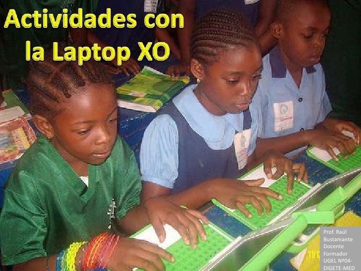 Actividades con laptop xo