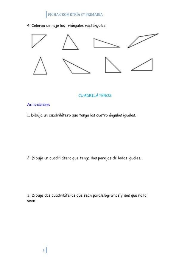 Actividades de geometría 3º primaria