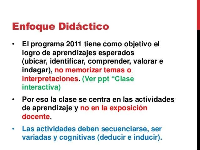 Actividades básicas de la clase de Historia. Slide 2
