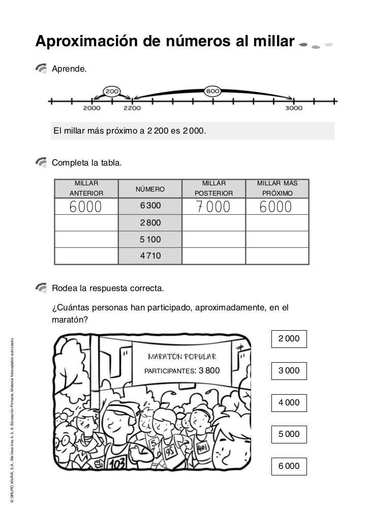 Actividades de matemáticas 3º educación primaria