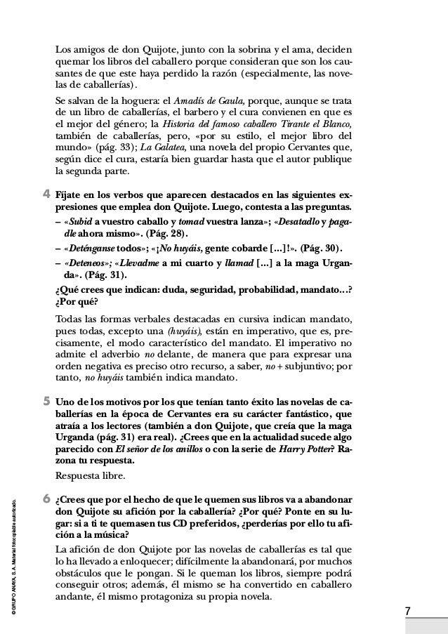 Actividades Don Quijote De La Mancha