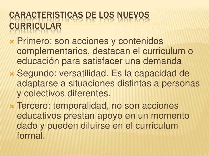Actividades, Educacion No Formal Y Curriculum Paralelo