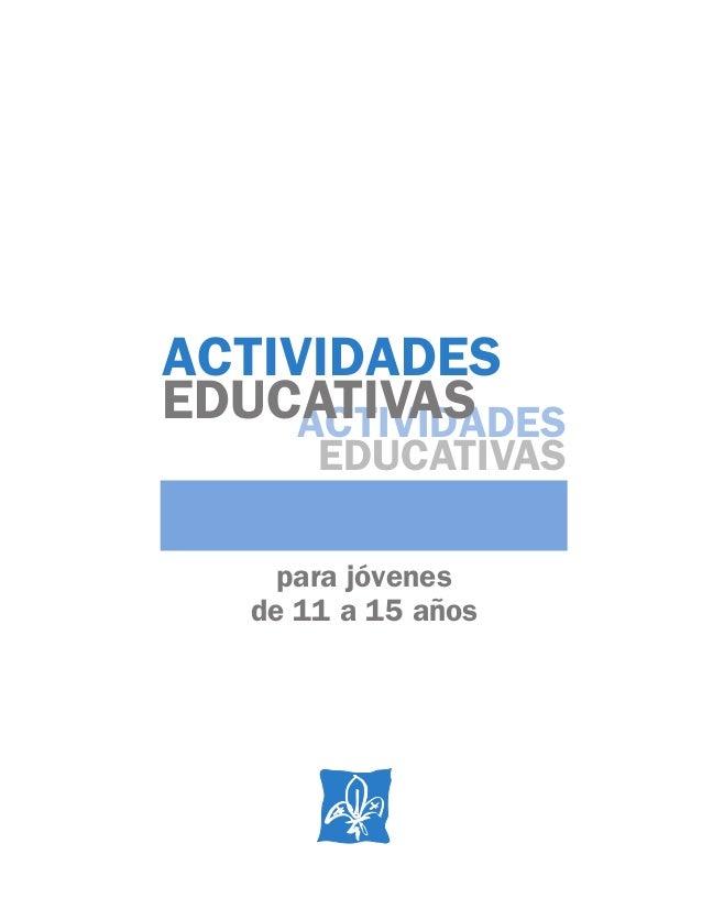 Actividades Educativas Para Jovenes De 11 A 15 Aos Osi