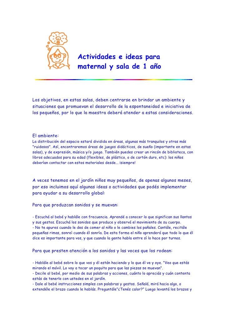 Actividades e ideas para maternal y sala de 1 a o for Actividades para jardin maternal sala de 2