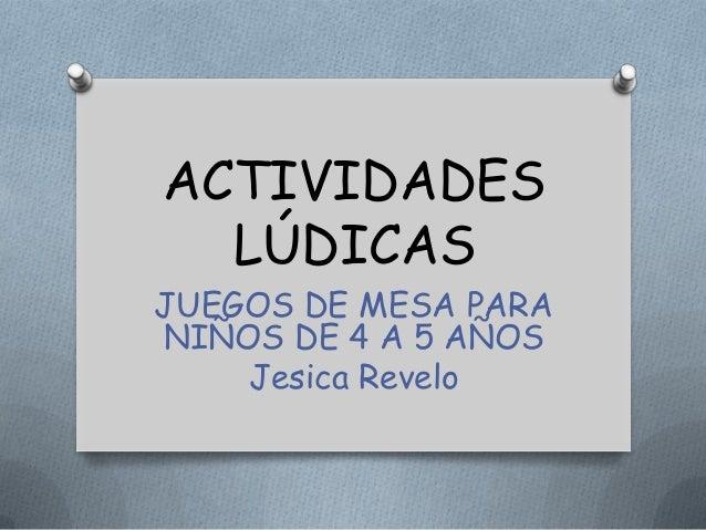 Actividades Ludicas Para Ninos De 4 Y 5 Anos Jesica V Revelo T