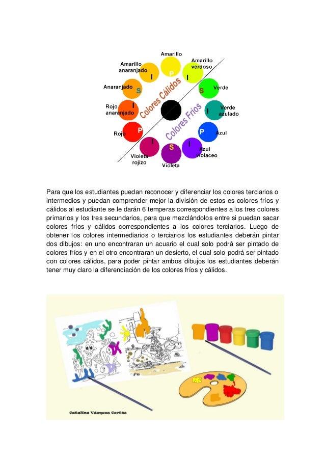 Para que los estudiantes puedan reconocer y diferenciar los colores terciarios ointermedios y puedan comprender mejor la d...