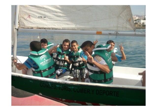Actividades náuticas en la playa de las Almadrabillas de Almería