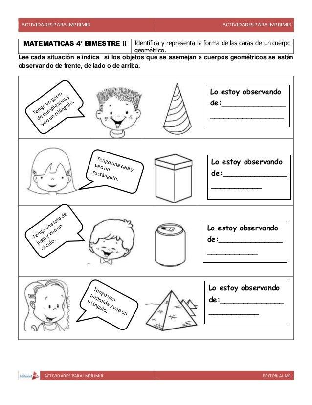 Actividades para cuarto grado de primaria para imprimir for Cuarto primaria