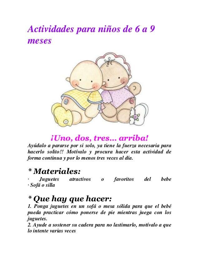 Actividades para ni os de 6 a 9 meses for Actividades para el jardin de infantes