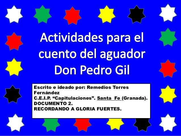 "Escrito e ideado por: Remedios TorresFernándezC.E.I.P. ""Capitulaciones"". Santa Fe (Granada).DOCUMENTO 2.RECORDANDO A GLORI..."