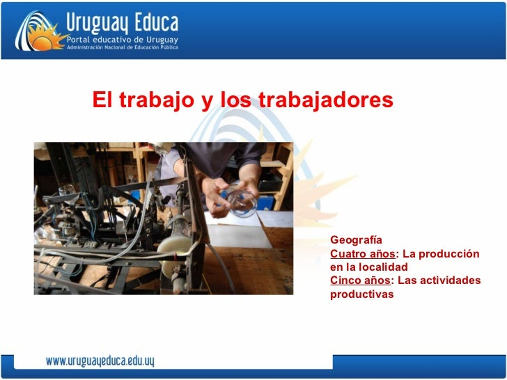 Geografía Cuatro años : La producción en la localidad Cinco años : Las actividades productivas El trabajo y los trabajadores