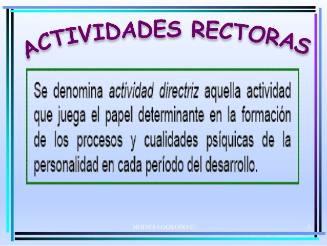 ACTIVIDADES RECTORAS VIGOSTKI Slide 3