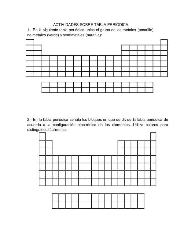 ACTIVIDADES SOBRE TABLA PERIÓDICA 1.  En La Siguiente Tabla Periódica Ubica  El Grupo De ...