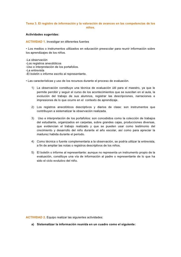 Actividades tema 3 eje temático 2