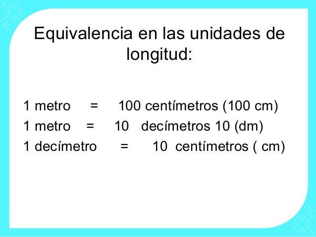 ツ Centímetro Decímetro Metro