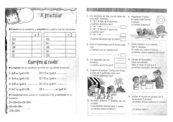 Actividades varias matematica 2012 3º