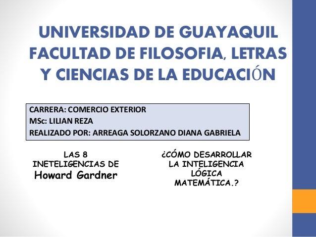 Universidad de guayaquil facultad de filosof a letras y for Educacion exterior