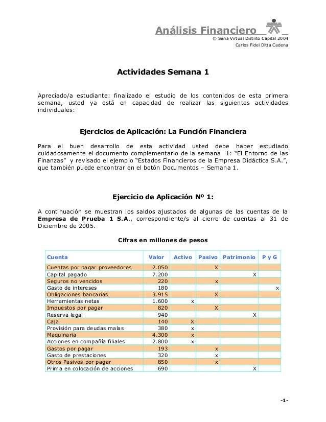 Análisis Financiero                                                           © Sena Virtual Distrito Capital 2004        ...