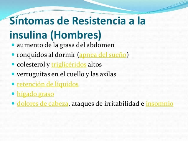 Actividad física en las personas insulino resistentes