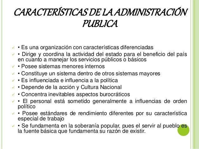 Caracter sticas y funciones de la administraci n publica y for Que es una oficina publica