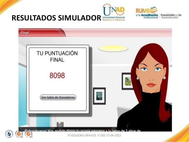RESULTADOS SIMULADOR FI-GQ-GCMU-004-015 V. 001-17-04-2013