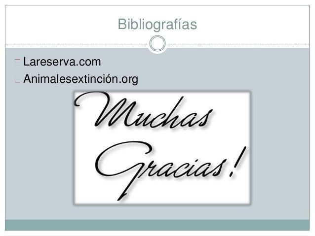 Bibliografías Lareserva.com Animalesextinción.org