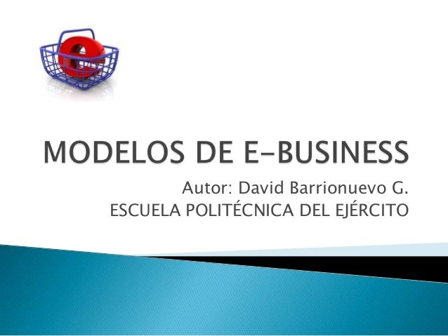 Autor: David Barrionuevo G.ESCUELA POLITÉCNICA DEL EJÉRCITO