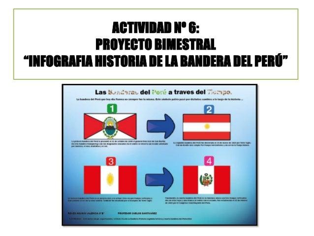 """ACTIVIDAD Nº 6: PROYECTO BIMESTRAL """"INFOGRAFIA HISTORIA DE LA BANDERA DEL PERÚ"""""""