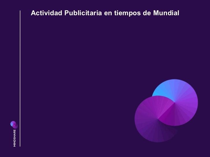Actividad Publicitaria en tiempos de Mundial