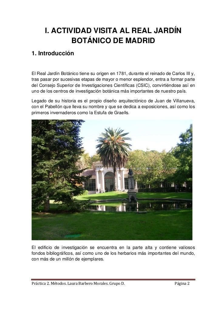 Actividad visita al jardin botanico for Como ir al jardin botanico