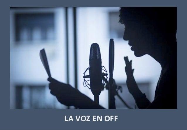Actividad voz en off